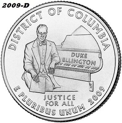 2009-D DISTRICT of COLUMBIA UNCIRCULATED QUARTER - I HAVE ALL TERRITORY QUARTERS