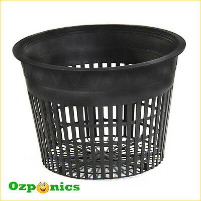 High Quality Hydroponics Black Growing Net Mesh Pot 3 Inch - 10 Pack