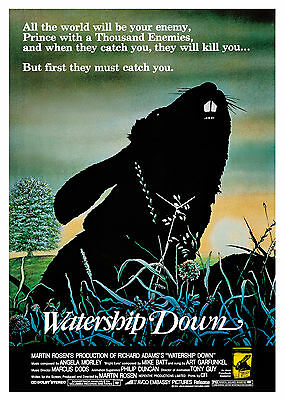 Watership Down (1978) - A1/A2 Poster **BUY ANY 2 AND GET 1 FREE OFFER**