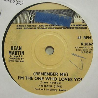 """Dean Martin(7"""" Vinyl 1st Issue)I'm The One Who Loves You / Born To Lose-U-Ex/VG+"""