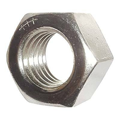 Hex Nuts Full Finished Stainless Steel Fine Thread 3/8-24 Qty 50