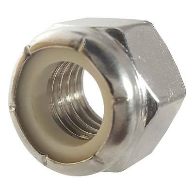 Stainless Steel nylon insert hex lock nut 8-32 Qty 100