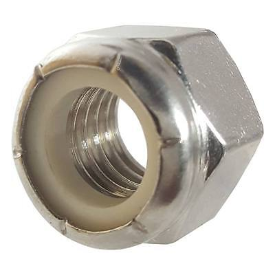 Stainless Steel nylon insert hex lock nut 5/16-18 Qty 25