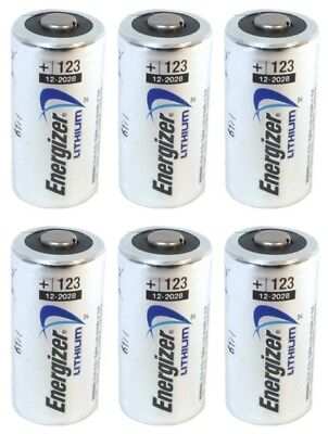 6 NEW Energizer 3V Lithium CR123A Batteries for Camera, Flashlight etc EXP 2028
