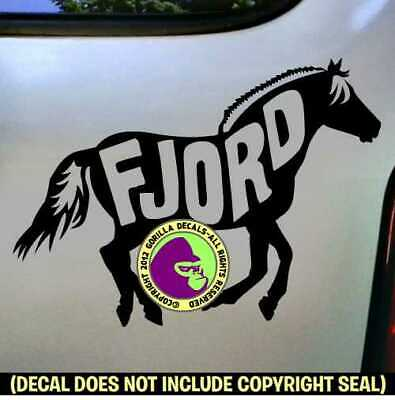 NORWEGIAN FJORD Vinyl Decal Sticker Horse Love Breed Car Window Trailer Sign