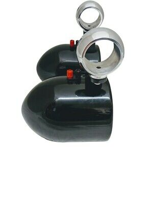 """Krypt Polished 6.5"""" Bullet Style Wakeboard Tower Speaker Cans"""