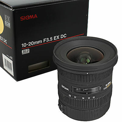 Sigma EX 10-20mm F/3.5 HSM DC Lens For Canon