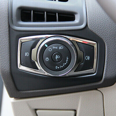 Fit For Ford Escape Kuga  2013-18 Fog Head Light Switch Button Chrome Cover Trim