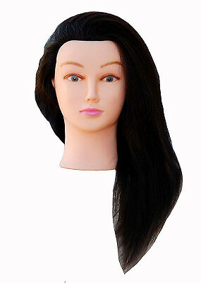 """*USA SELLER* 22"""" Cosmetology Mannequin Head 100% REAL HUMAN HAIR ~ @@ OE"""