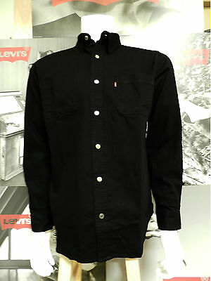 Levi's Men's Long Sleeve Classic Cotton Twill Work Shirt Black