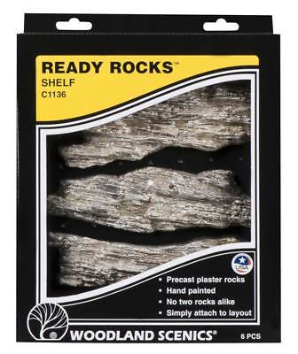 NEW Woodland Scenics Ready Rocks Shelf Rocks C1136