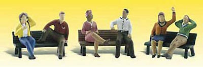 NEW Woodland Scenics People On Benches N A2206
