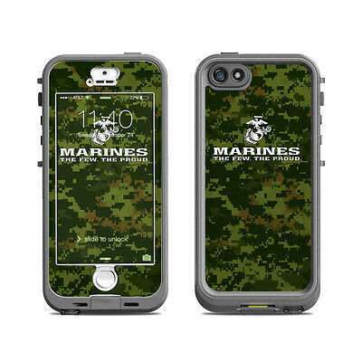 Skin for LifeProof Nuud iPhone 5S - USMC Camo by US Marine Corps - Sticker Decal