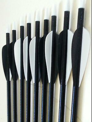 "50 x 32"" Fiberglass Arrows 15-80lb Screw Tip Hunting Target Recurve Compound Bow"
