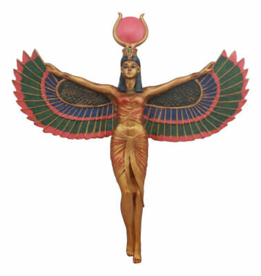 "Ancient Egyptian Sculpture Warrior Goddess Isis Home Decor Wall Plaque 11.5""H"