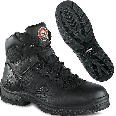 Men Work Boots Red Wing Irish Setter 6-inch boot Safety Steel Toe Black 83612