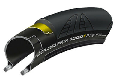 Continental Gp 4000 S Ii 700X25C Folding Road Bike Tyre Black (New And Improved)