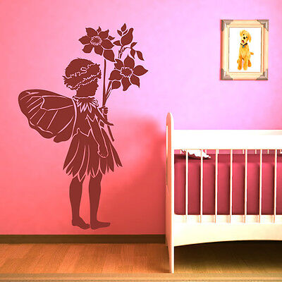 Fairy With Flowers Wall Sticker Fairy Wall Decal Art
