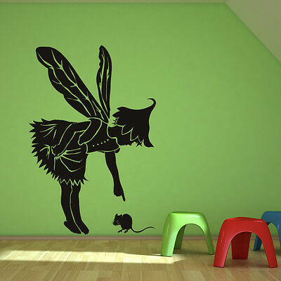 Fairy With Mouse Wall Sticker Fairy Wall Decal Art