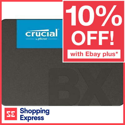 "Crucial BX500 240GB SSD 2.5"" 3D NAND 540MB/s SATA III Solid State Drives"