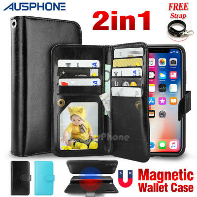 Wallet Magnet Leather Flip Premium Case Cover for Apple iPhone XS Max XR 8+ 7 6S