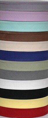 1 Inch COTTON BIAS BINDING TAPE ( Aprox 50 Meter Roll )