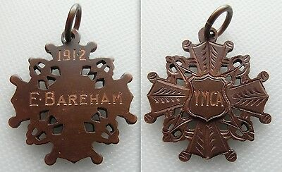 Early 20Th Century Collectable Y.m.c.a  Medallion - Dates 1912 - E. Bareham