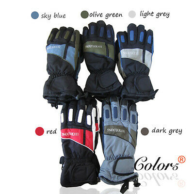 Color5 Man Large Size Winter Warm Ski Snowboarding Gloves Multi Colours