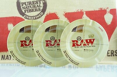 3X Authentic Raw Rolling Paper Magnetic Ashtrays