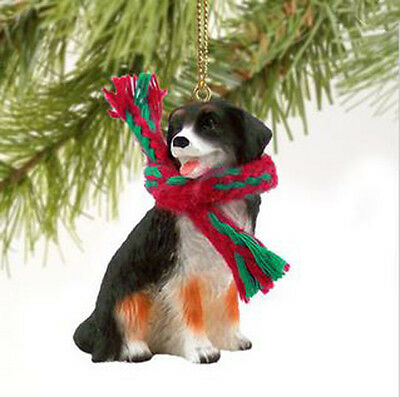 BERNESE MOUTAIN  DOG  CHRISTMAS ORNAMENT HOLIDAY  Figurine Scarf