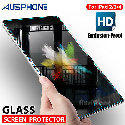 Tempered Glass Tough Scratch Resistant Screen Protector for Apple New iPad 2/3/4