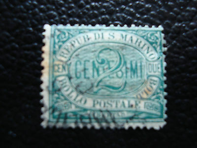 SAINT-MARIN - timbre yvert et tellier n° 1 obl (taches rouille) (A9) stamp