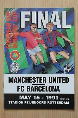 1991 Cup Winners Cup Final Programme *(Manchester United V Fc Barcelona)*
