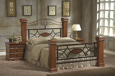 Solid Wood Bed in 4ft6 DOUBLE or 5FT KINGSIZE with Optional Bedside Cabinets