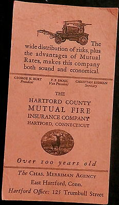 Blotter HARTFORD COUNTY MUTUAL FIRE INS - CONNECTICUT - CHARLES MERRIMAN AGENCY