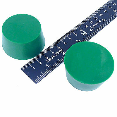 "(2) 1.625"" x 2"" #10 High Temp Silicone Rubber Powder Coating Plugs Cerakote"