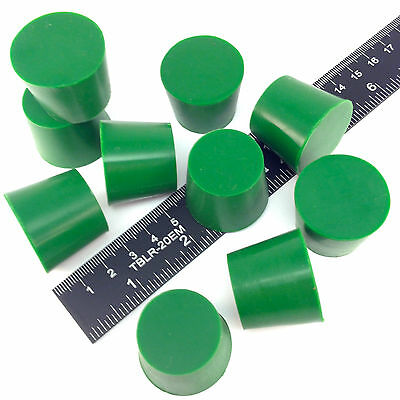 "(10) 1 1/32"" x 1 1/4"" #6 High Temp Silicone Rubber Plugs Powder Coating Paint"