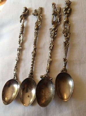 Vintage Souvenir Silverplate Spoons English Made Set Of 4