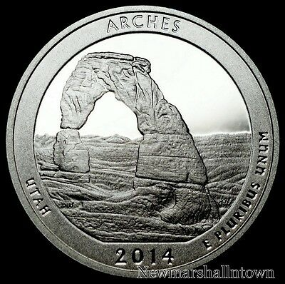 2014 S Arches National Park Utah Mint Silver Proof ATB Quarter from Original Set