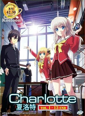 DVD Japan Anime CHARLOTTE Complete Series (1-13) English Subtitle All Region