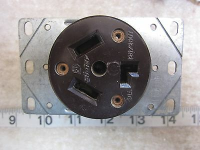 Slater 30A 125/250V Hubbell 9350 Style Straight Blade Receptacle 10-30R, Used