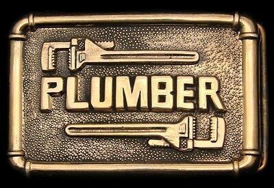 Lk26132 *nos* Vintage 1978 **plumber** Pipe Wrenches Polished Solid Brass Buckle