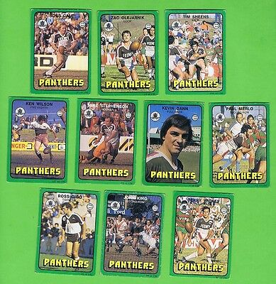 1978  Penrith Panthers Scanlens Rugby League Cards