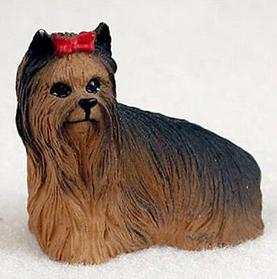 YORKIE YORKSHIRE TERRIER TINY ONES DOG Figurine Statue Pet Lovers Gift Resin