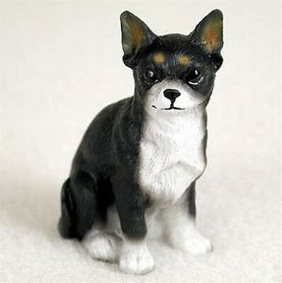 CHIHUAHUA TINY ONES DOG Figurine Statue Pet Lovers Gift Resin White Black