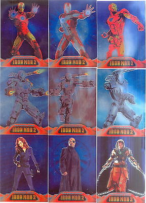 Iron Man 2 Movie 2010 Upper Deck Armored Insert Card Set Ac1 To Ac9 Marvel