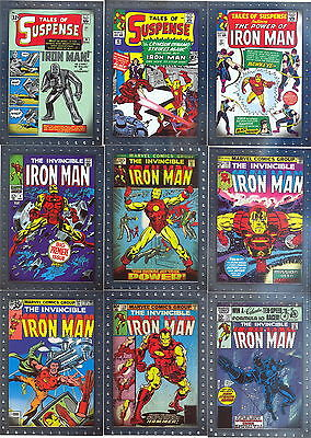Iron Man Movie 2 2010 Comic Book Covers Insert Card Set Cc1 To Cc9 Marvel
