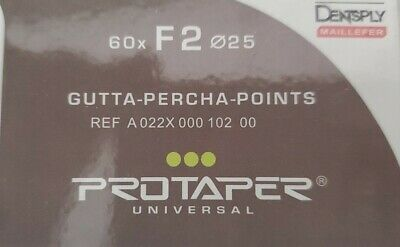 Protaper Universal F1 Gutta Percha Points Dentsply Tulsa Box of 60 Dental Endo