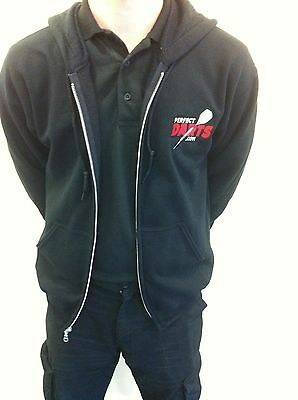 PRO DARTS BLACK HOODIE - DELUXE - MENS, GENTS, LADIES, BOYS, GIRLS, Small-2XL