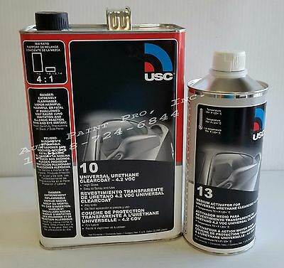 Urethane high gloss USC 10-1 clear coat auto body shop restoration paint supply